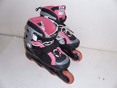 KRYPTONICS YOUTH GIRLS PINK INLINE SKATES ADJUSTABLE SIZE 1TO 4