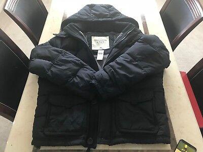 Abercrombie   Fitch Mens Hunters Pass Puffer Jacket Black   Size Xxl   Brand New