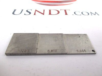 3-step Thin Steel Calibration Block Standard Olympus Ultrasonic Flaw Ndt Ge