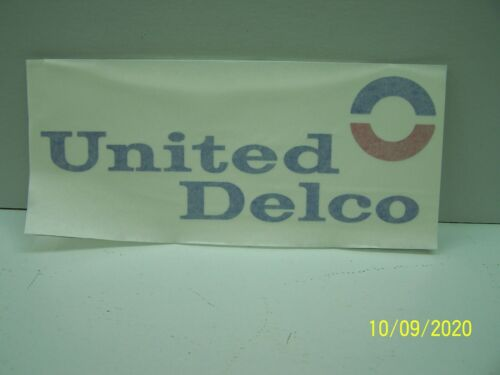 Large United Delco Decal For Shop Cabinet