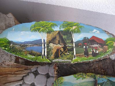 Large mid century wood décor black forest German 1950 city art deco shop sign