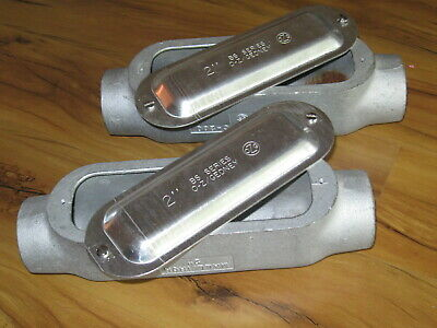 Two O-zgedney C-200 2 Malleable Iron Conduit Boxes With Covers