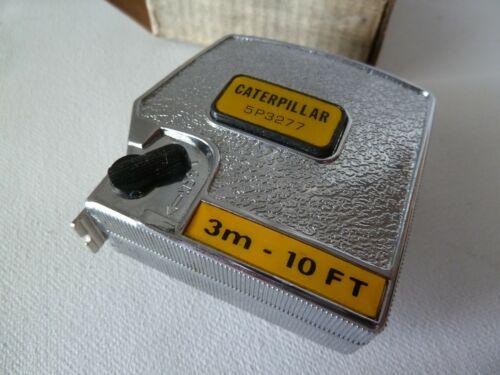 Vintage CATERPILLAR Tape Measure Locking Push Button w/ Box LUFKIN Made in USA