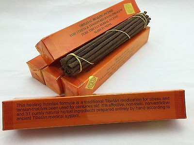 Tibetan Hand Rolled HEALING INCENSE  Original Natural. 5 Boxes.