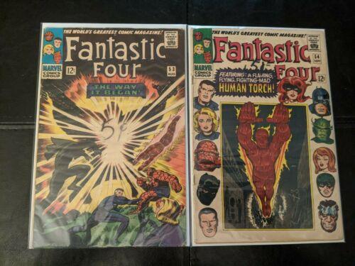 Fantastic Four #53 & 54 Marvel (1961) Black Panther 2nd & 3rd app / Key Issue