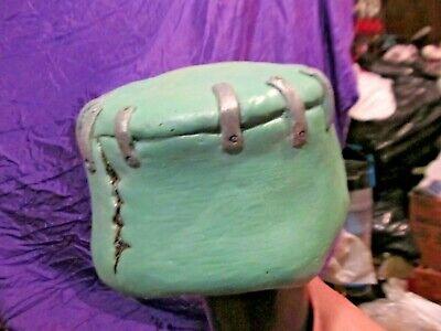 Frankenstein Head Piece BrainBucket NO HAIR Mask Famous Universal