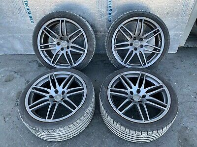 19 INCH 19*9 14 SPOKE WHEEL WHEELS & TIRES SET OEM 2007 2008 AUDI S4 RS4 S5 B8
