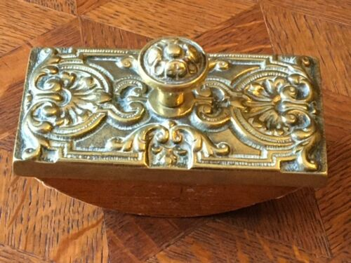 English Decorative Brass Ink Blotter Circa 1875 Charles Faudree