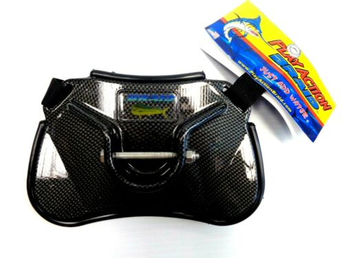 Play Action Braid Dolphin Stealth Carbon Fiber Fish Fighting Belt 30181- NEW