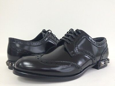 NIB Dolce & Gabbana Women's Sz 36 Derby Studded Brogues Boy Wingtip Oxford Shoes