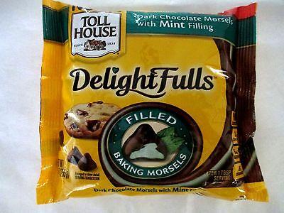 Nestle Toll House Delightfulls Morsels Dark Chocolate Mint 9 oz. Candy Bake Melt