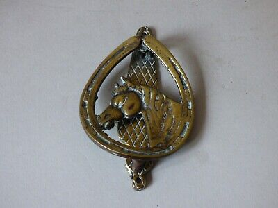 COLLECTABLE FARM COUNTRYSIDE BRASS FOX HUNTING HORSE SHOE EQUINE 1 DOOR KNOCKER