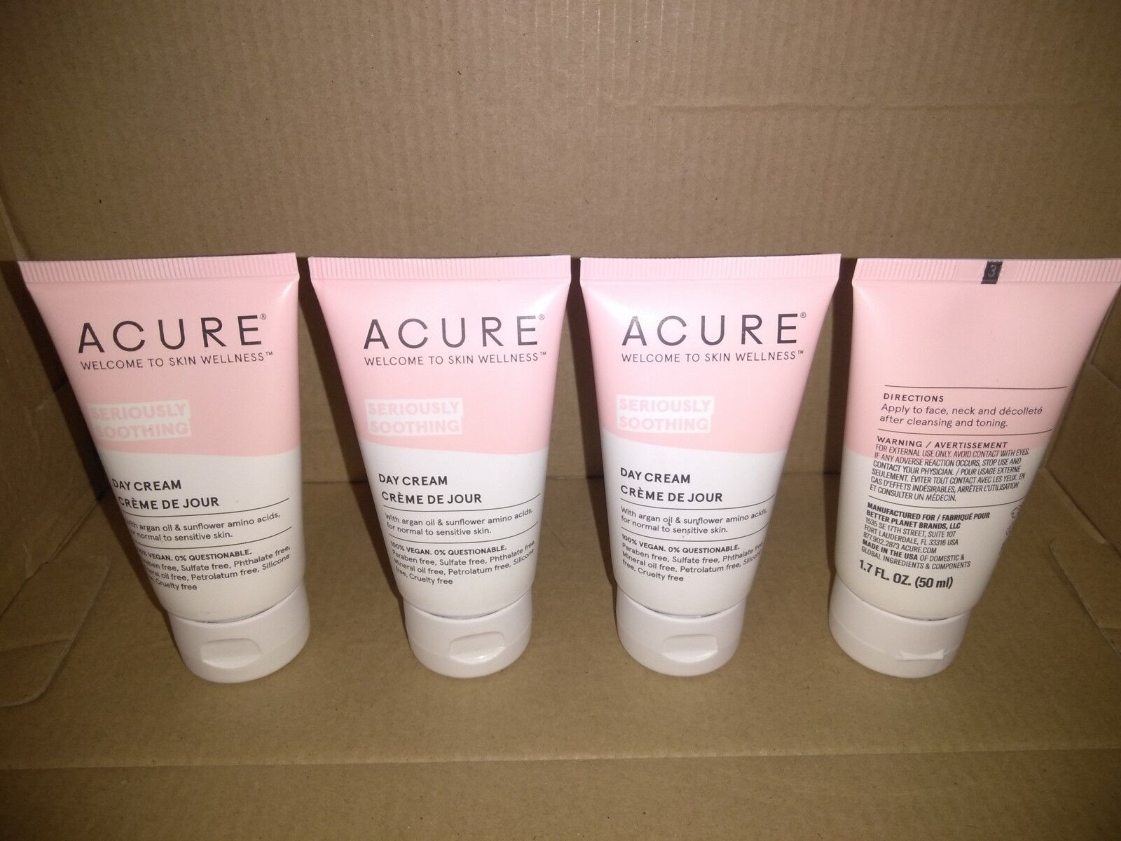 ACURE Sensitive Facial Cream, 1.7 fl oz