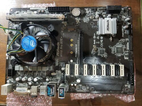 ASRock H110 PRO BTC+ / Installed Intel G3930  2.9 GHZ, 2 MB Cache, LGA1151