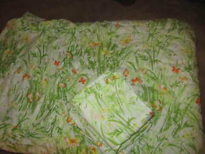 Vintage 70's Spring Meadow Double  Comforter/Shams and Sheets