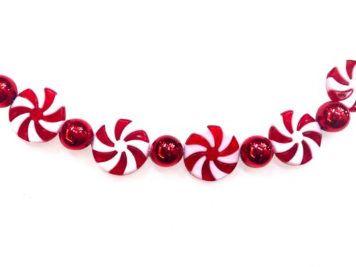 Peppermint Candy Red White Garland Christmas Tree Decoration Ornament R