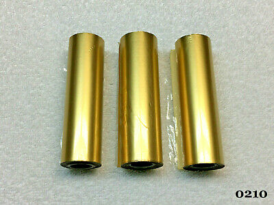 Kingsley Machine - 4 Matte Dull Gold Foil Rolls - Hot Foil Stamping Machine