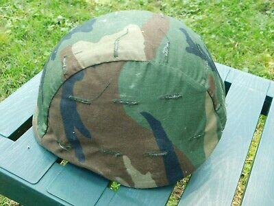 US Issue PASGT Ballistic Helmet Size Medium w/Woodland Camo cover