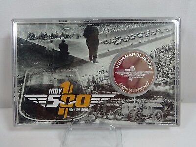 2016 Indianapolis 500 100th Running & IMS Collector Silver Coin Card