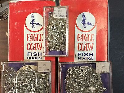 (100 COUNT, EAGLE CLAW, 1/0, 2/0, 4/0, KIRBY, 77CAT, CAD/TIN, FISHING HOOKS)
