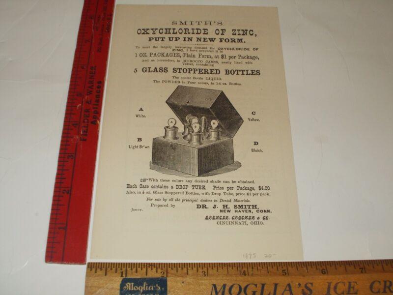 Rare Original VTG 1875 J H Smith R S Williams Gold Dental Apparatus Ad Art Print