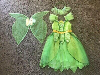 Tinkerbell Fairy Costume Dress Up Halloween Pretend Play child Size 3-4