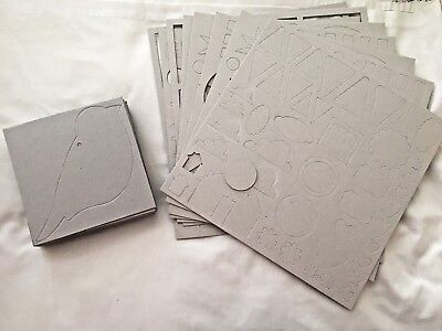 STAMPIN' UP ON BOARD TRIMMINGS, BIRD, HEART CHIPBOARD BOOKS STARS PENNANTS