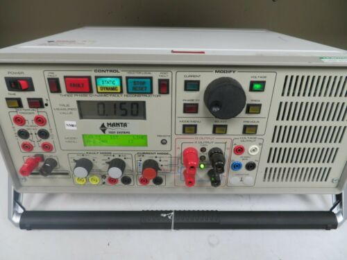 Manta Relay Test Set 3 Phase Two Channel Current Analyzer Mts 1710/1720 NM26