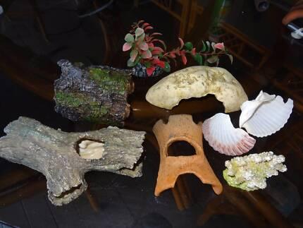 Fish Tank Decorations Fake Plants Shells Boronia Heights Logan Area Preview
