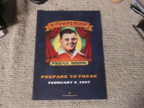 "12-8 7/8""  SILVERCHAIR freak show     Album Ad Flyer"
