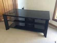3 tiered, solid black glass TV cabinet / stand Mount Gambier Grant Area Preview
