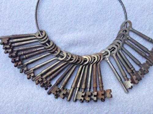 Antique Vintage Original CORBIN Bit Skeleton Mortise Lock Key - S series 1 to 36