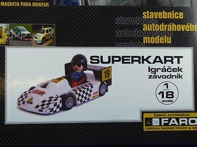 SUPERKART FARO für Autorennbahn 1:32//1:24 Geschenk für Ihr Kind zum Rennfahren