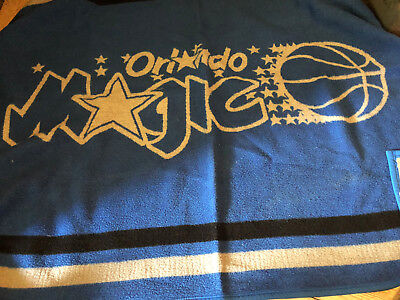 VTG Biederlack Orlando Magic Blue Gray Throw Blanket Basketball