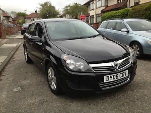 2008 VAUXHALL ASTRA 1.6 SXI BLACK 5 DOOR DAMAGED SALVAGE SPARES OR REPAIRS