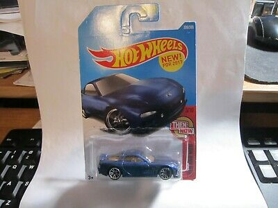 Hot Wheels 2017 Then And Now Series #336 '95 Mazda RX-7 Blue