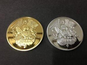 Freddie Mercury QUEEN ROCK MUSIC 24K GOLD AND .999 SILVER MEMORABILIA COIN RARE