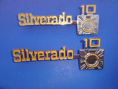 1975-76-77-78-79-1980 CHEVROLET TRUCK SILVERADO 10 FENDER EMBLEMS-PR-TRIM PARTS