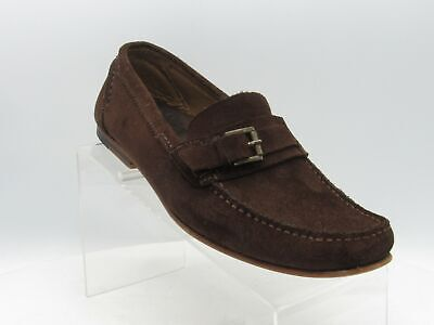 Zara Size 8 M/EU 41 Brown Suede Buckle Moc Toe Slip On Driving Loafer Mens Shoes