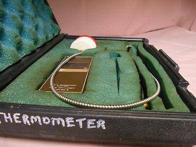 Tegam 873f Thermometer Type K Thermocouple -60f-2000f Wprobe In Case