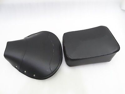 NEW VESPA VBB,SUPER,PX,RALLY FRONT AND REAR SEAT COVER SET BLACK #VP623 (C-3571)