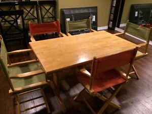 Solid maple table and x4 chairs