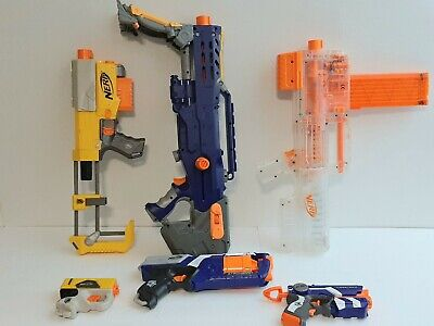 Nerf Gun Blaster Lot Of 6 Recon CS6 Deploy CS6 Longshot CS6 Strongarm Works