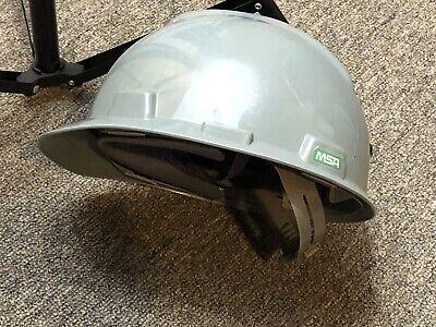 Msa V-gard Hard Hat Cap Helmet - Fas-trac Ratchet Suspension - Gray - Type I