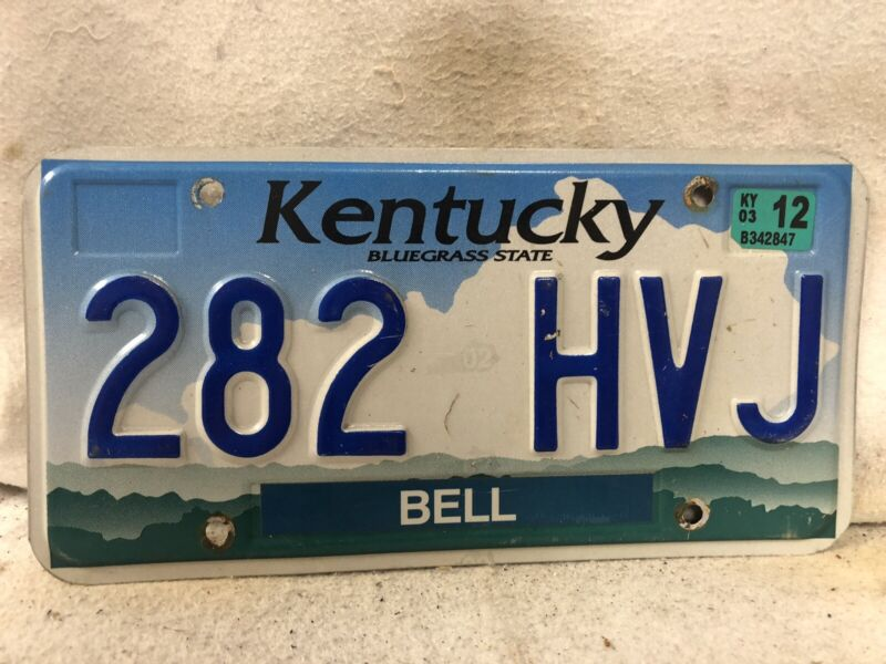 2003 Kentucky License Plate (RARE BELL COUNTY!!)