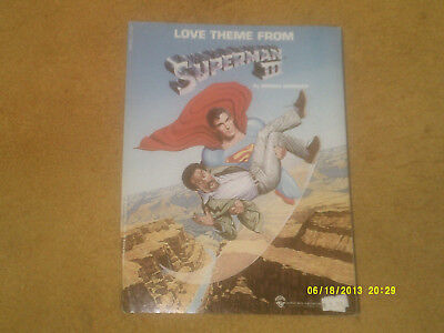 Giorgio Moroder sheet music LOVE THEME-SUPERMAN III from film 1983 3 pages (VG)