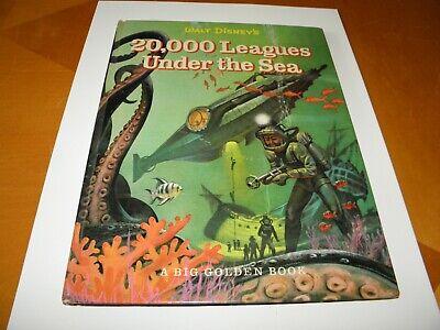 Walt Disney 20,000 Leagues Under The Sea Big Golden 1963 5th Illustrated EXC+