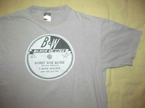 B & W Records T-BONE WALKER Bobby Sox Blues gray T shirt Men
