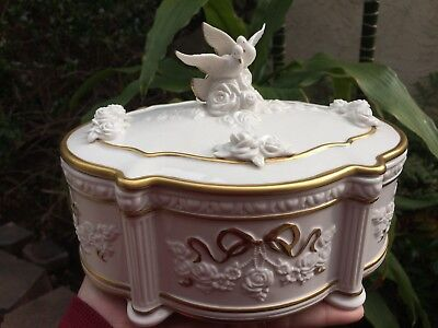 Vintage 1991 Franklin Mint House of Faberge Snow Dove Jewelry Music Box for sale  San Diego