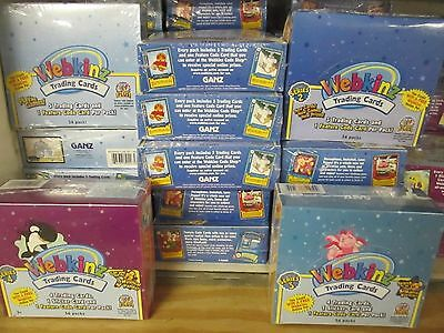 10-BOXES WEBKINZ : 1 and 2TRADING CARD CASE SEALED BOXES Assorted Series Lot